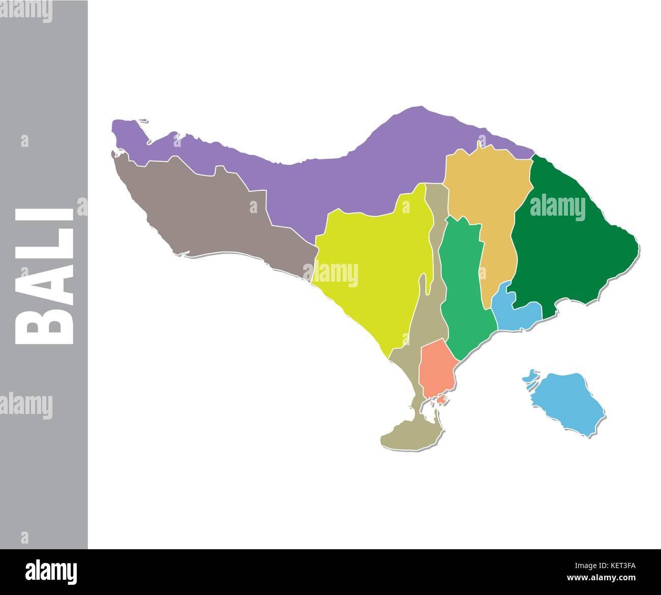 Bali Map Vector Stock Photos Bali Map Vector Stock Images