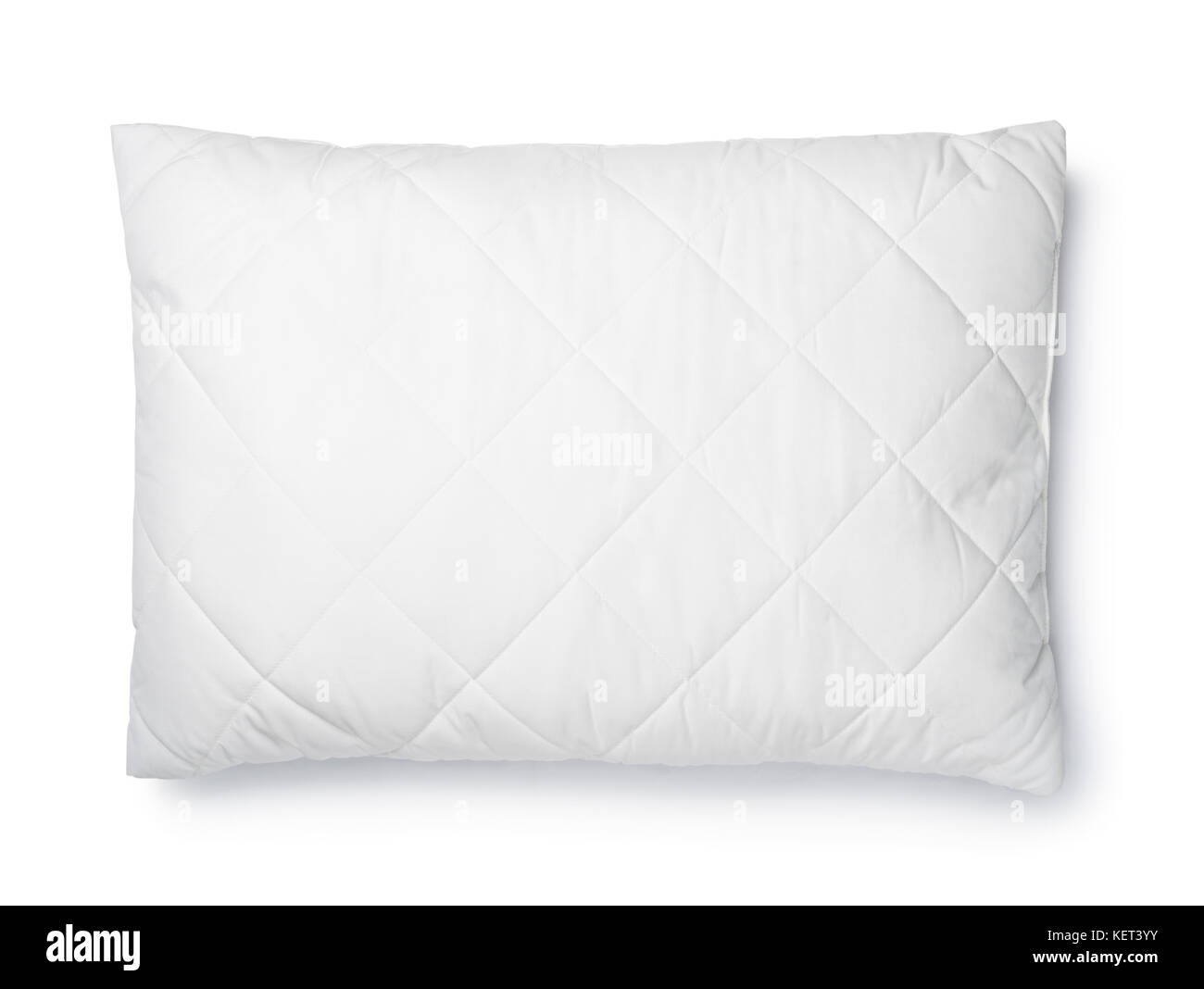 white bed top view. Top View Of White Cotton Pillow Isolated On - Stock Image Bed D