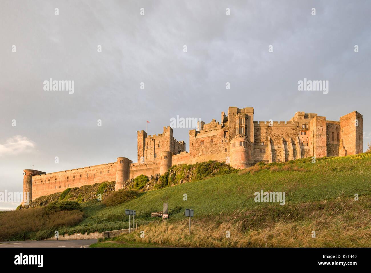 Bamburgh Castle, Bamburgh, Northumberland, England, UK - Stock Image