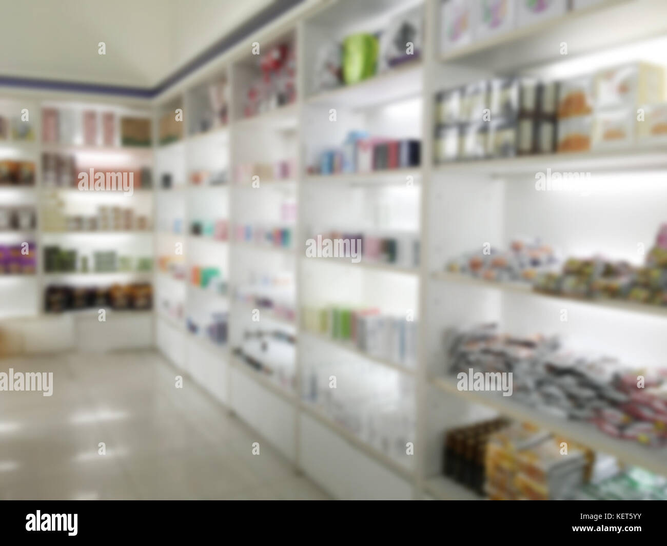 Blurry Medicine Cabinet And Store Medicine And Pharmacy Drugstore For  Background