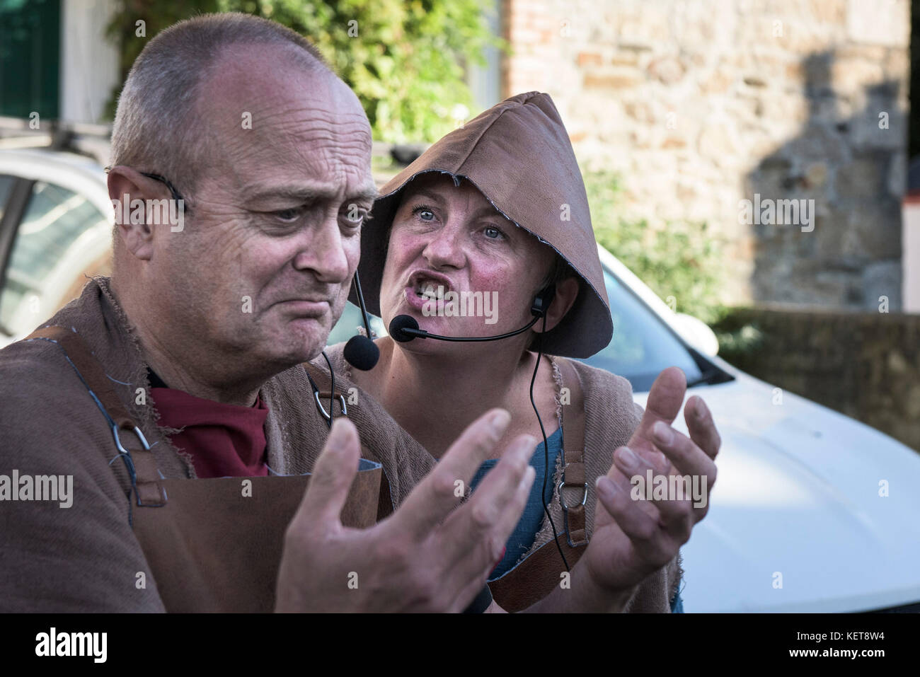 The Ordinalia - Cornish Mystery Plays performed during the Penryn Kemeneth a two day heritage festival at Penryn - Stock Image
