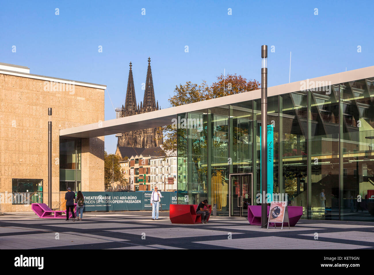Germany, Cologne, the Kleine Haus (small house) of the Schauspiel Koeln (Cologne Theater) at the Offenbach square, - Stock Image