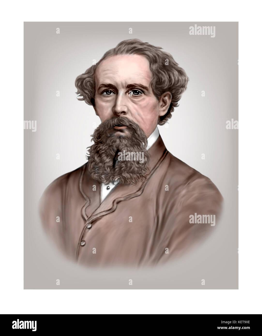 Charles Dickens, 1812 - 1870, English Novelist Stock Photo