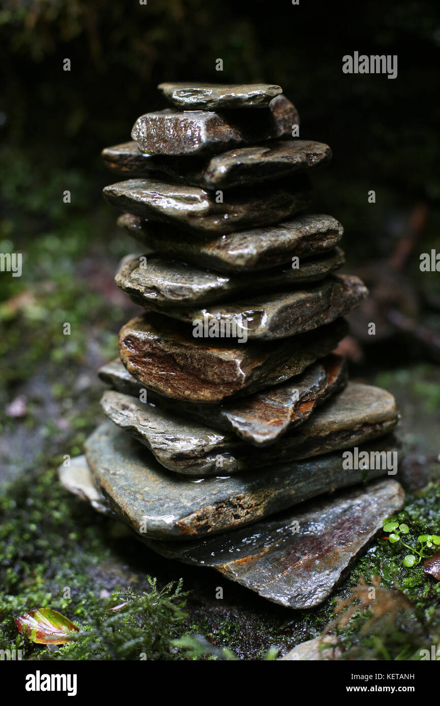Stone Cairn - Stock Image
