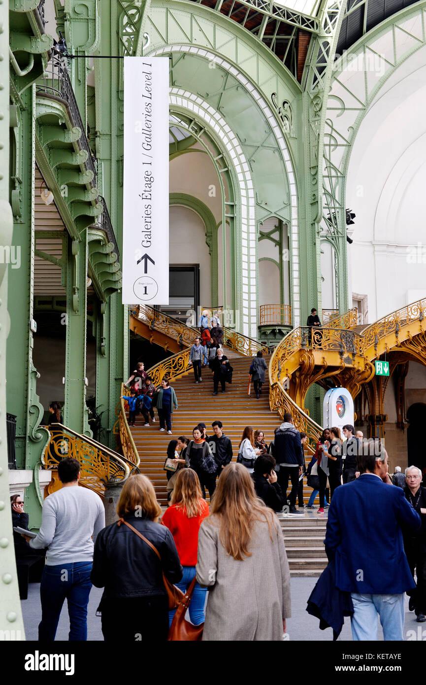 Contemporary Art International Fair  of Paris, France Stock Photo