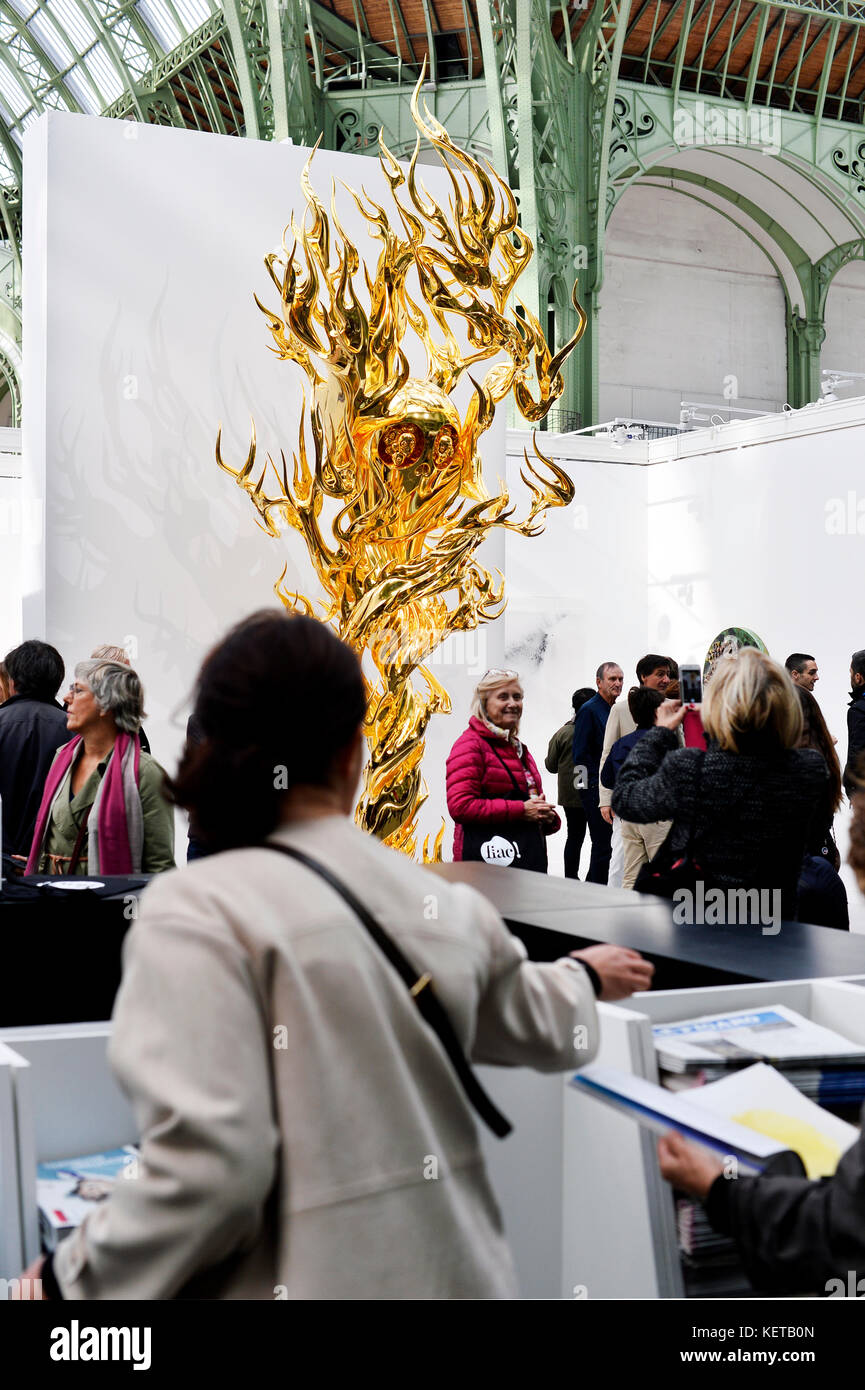 Contemporary Art International Fair  of Paris, France Stock Photo