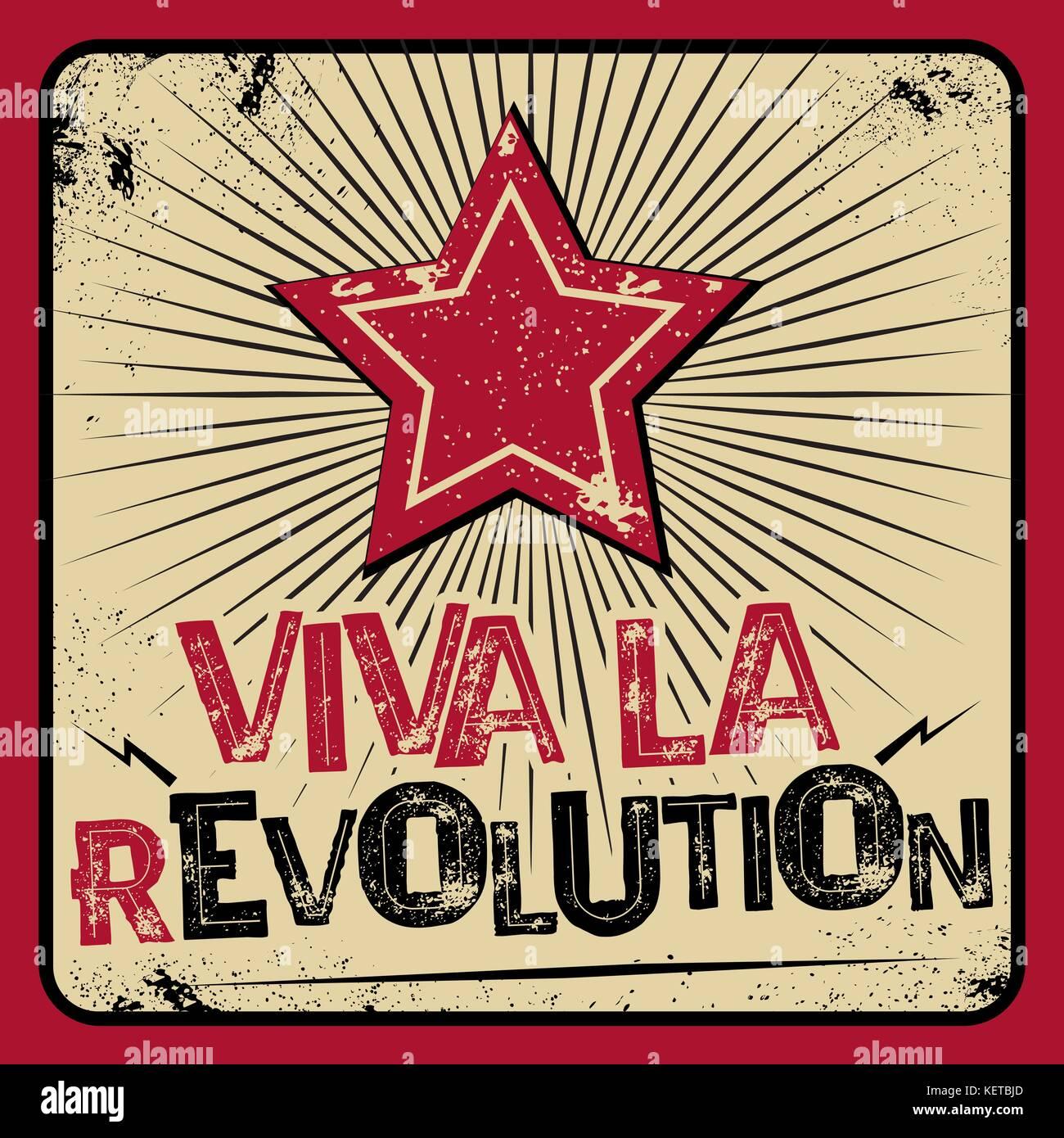 Viva la revolution poster - Stock Vector