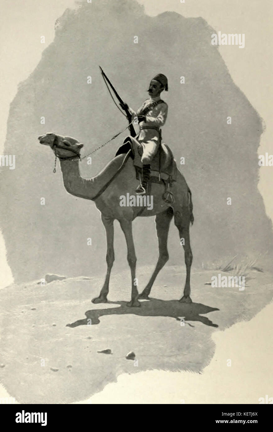 A Camel Corps Scout, Wady Halfa - Stock Image