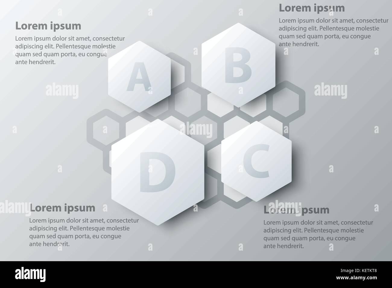 Hexagon Infographic Design Template Stock Photos & Hexagon ...