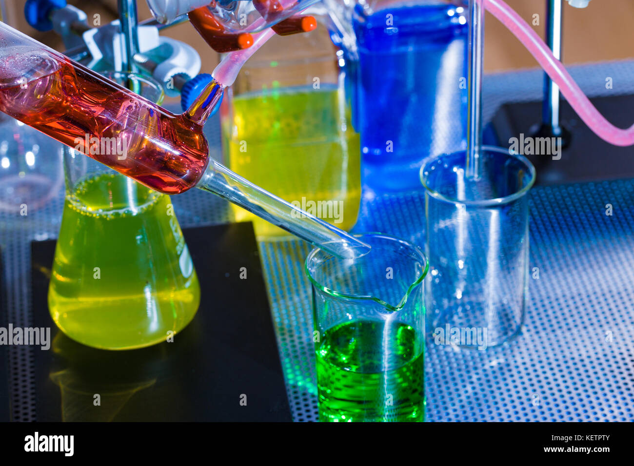 Instruments in the laboratory of physical chemistry - Stock Image