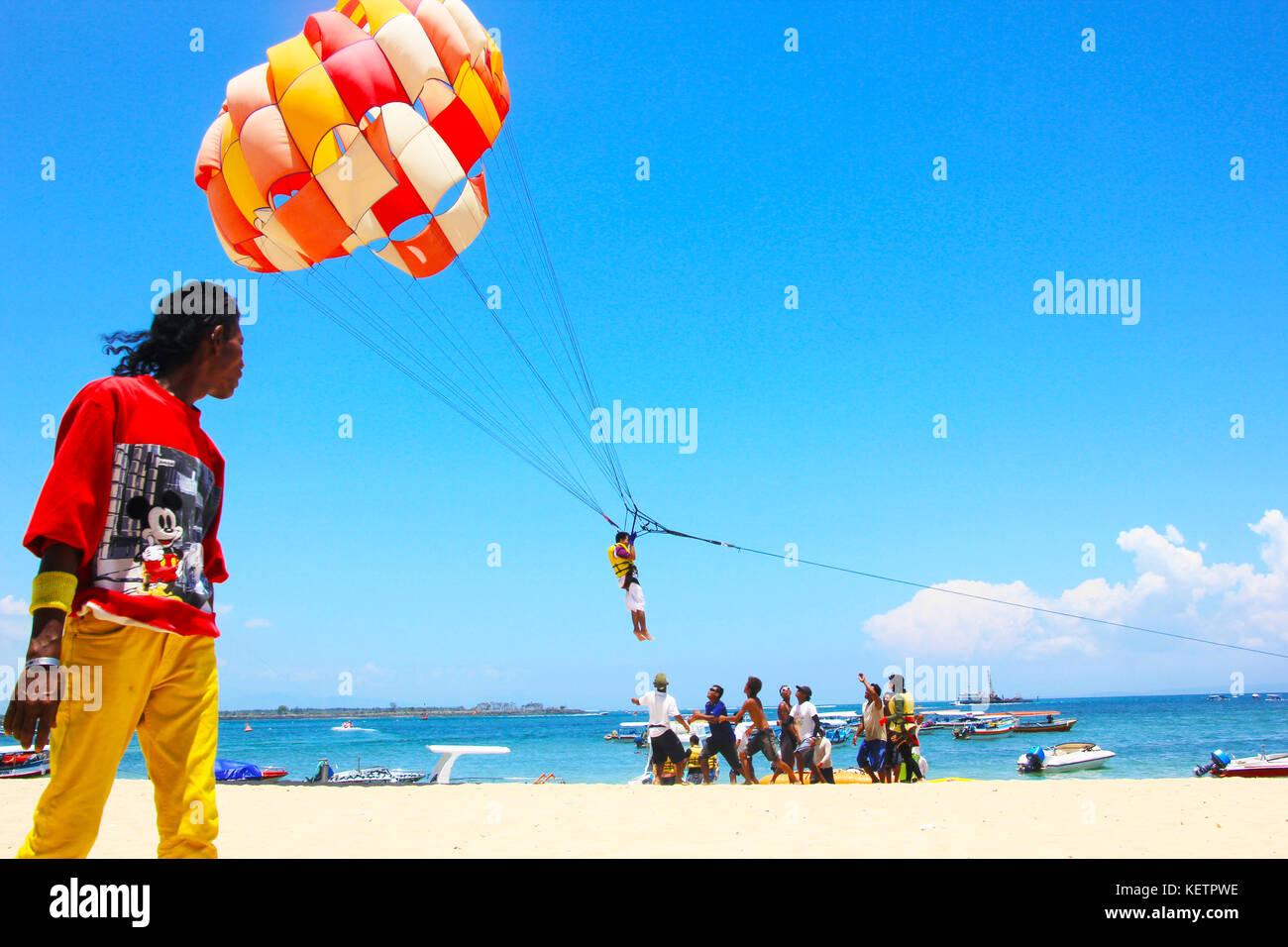 Water Sport in Bali Island Indonesia - Stock Image