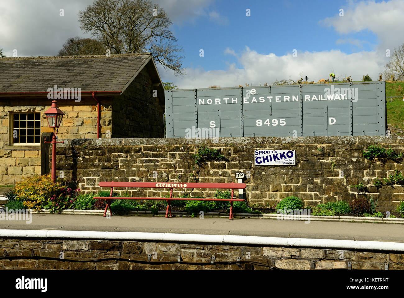 Goathland station on the North Yorkshire Moors Railway. - Stock Image