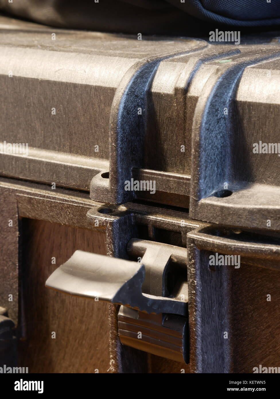 Secure equipment case, photography - Stock Image