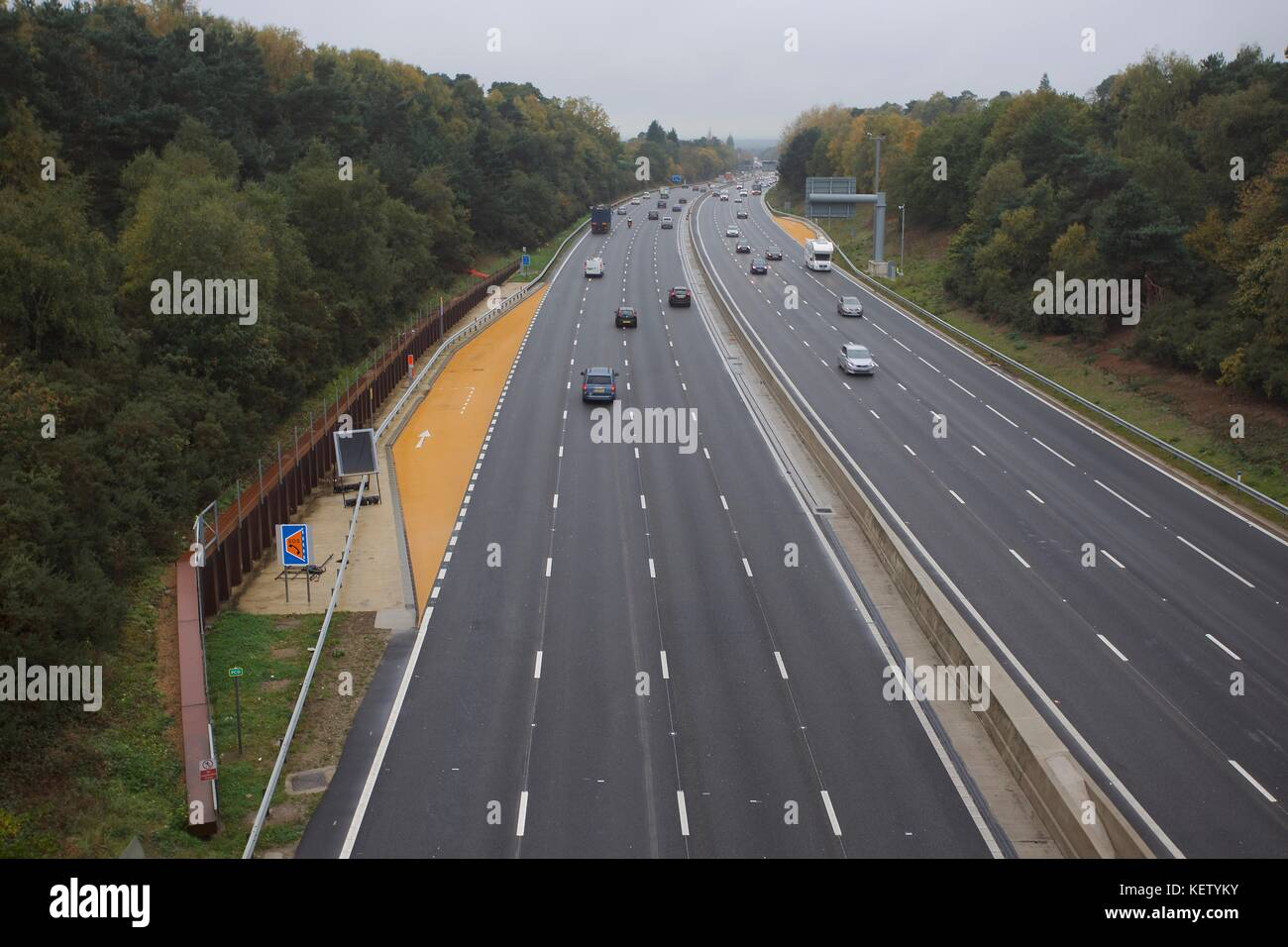 managed motorway - Stock Image
