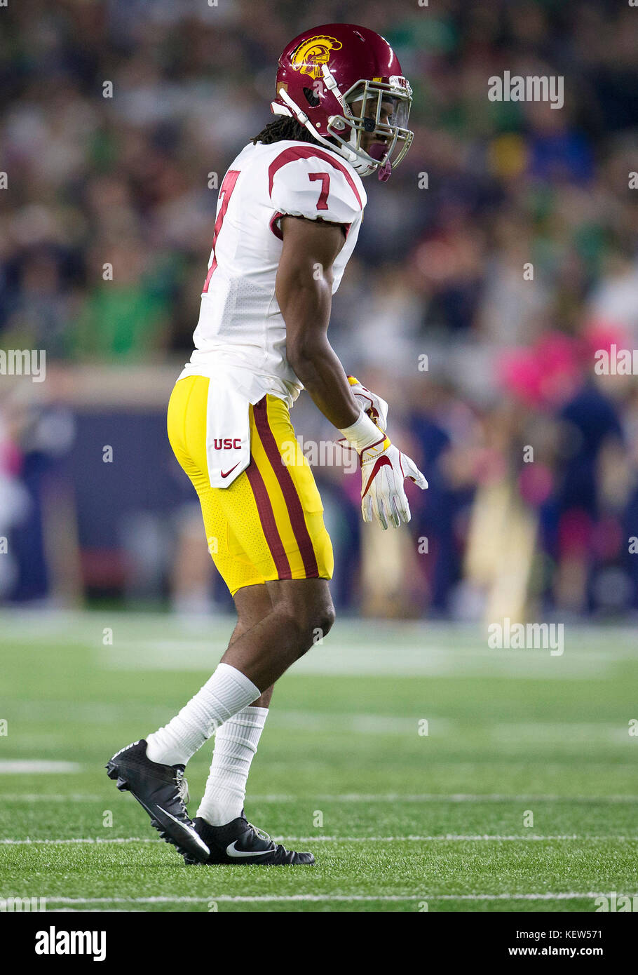 huge selection of 942d7 0632f October 21, 2017: USC safety Marvell Tell III (7) during ...
