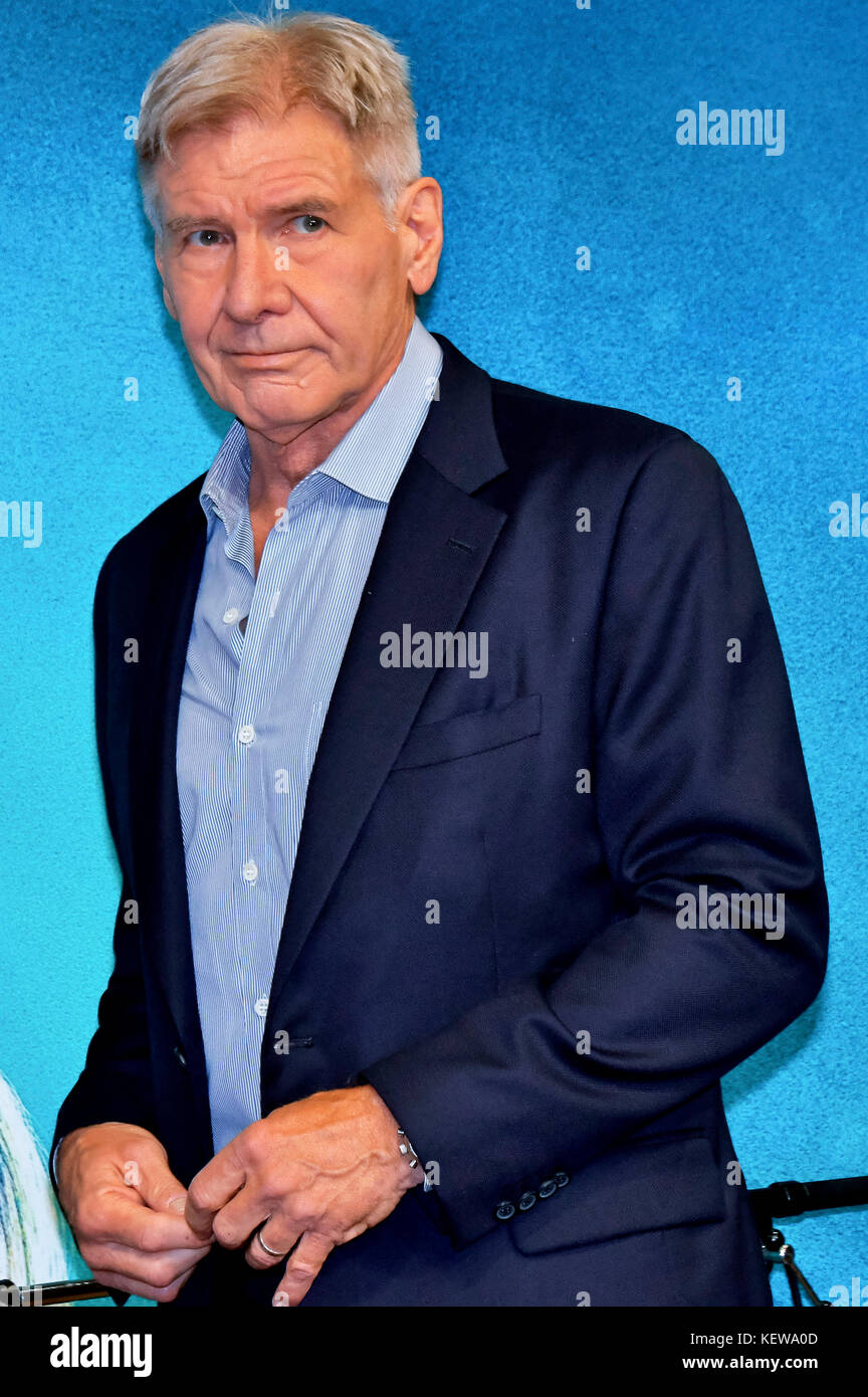 Tokyo, Japan. 23rd Oct, 2017. Harrison Ford attends the 'Blade Runner 2049' press conference at Hotel Ritz - Stock Image