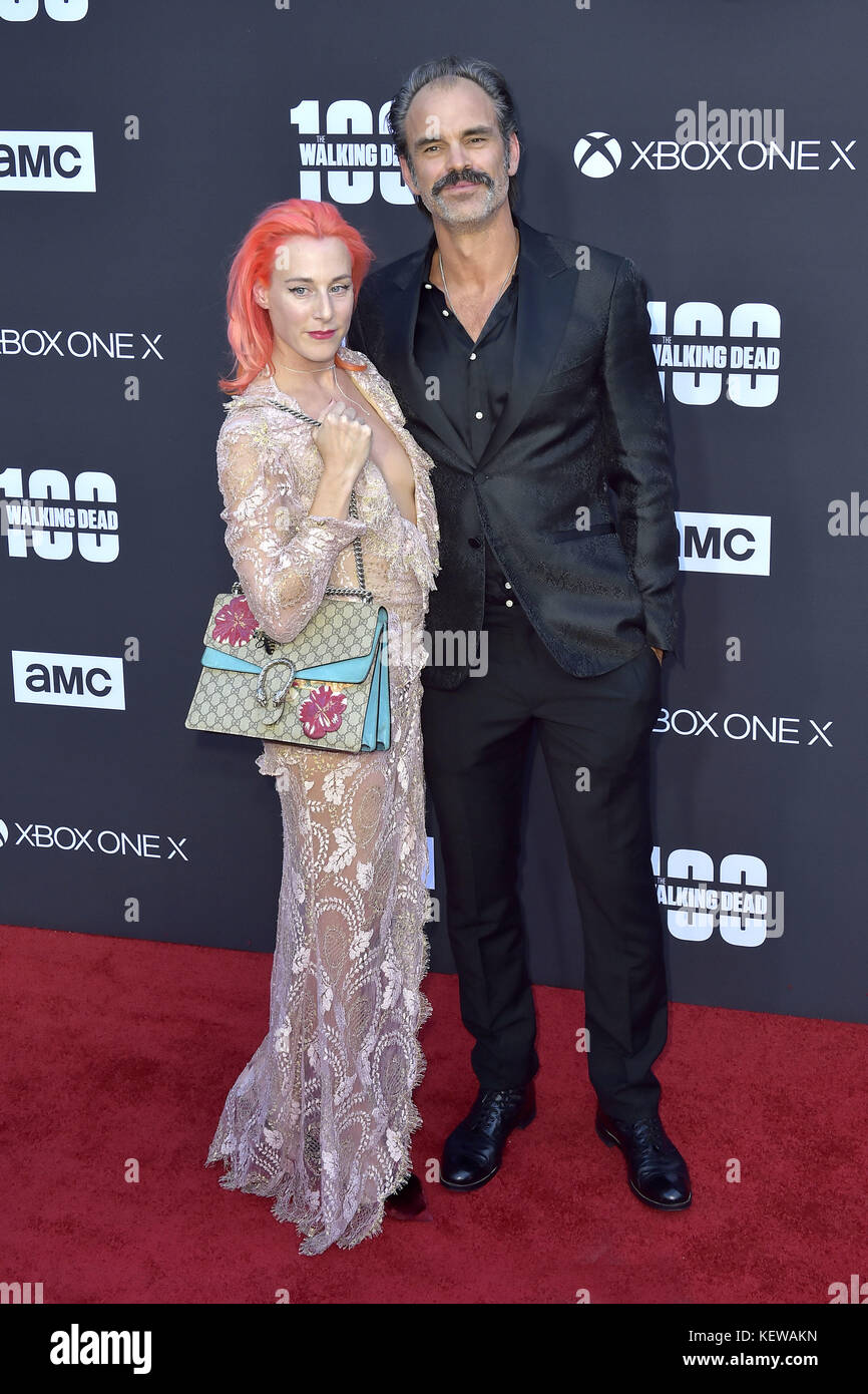 Steven Ogg and guest attend AMC's 'The Walking Dead' Season
