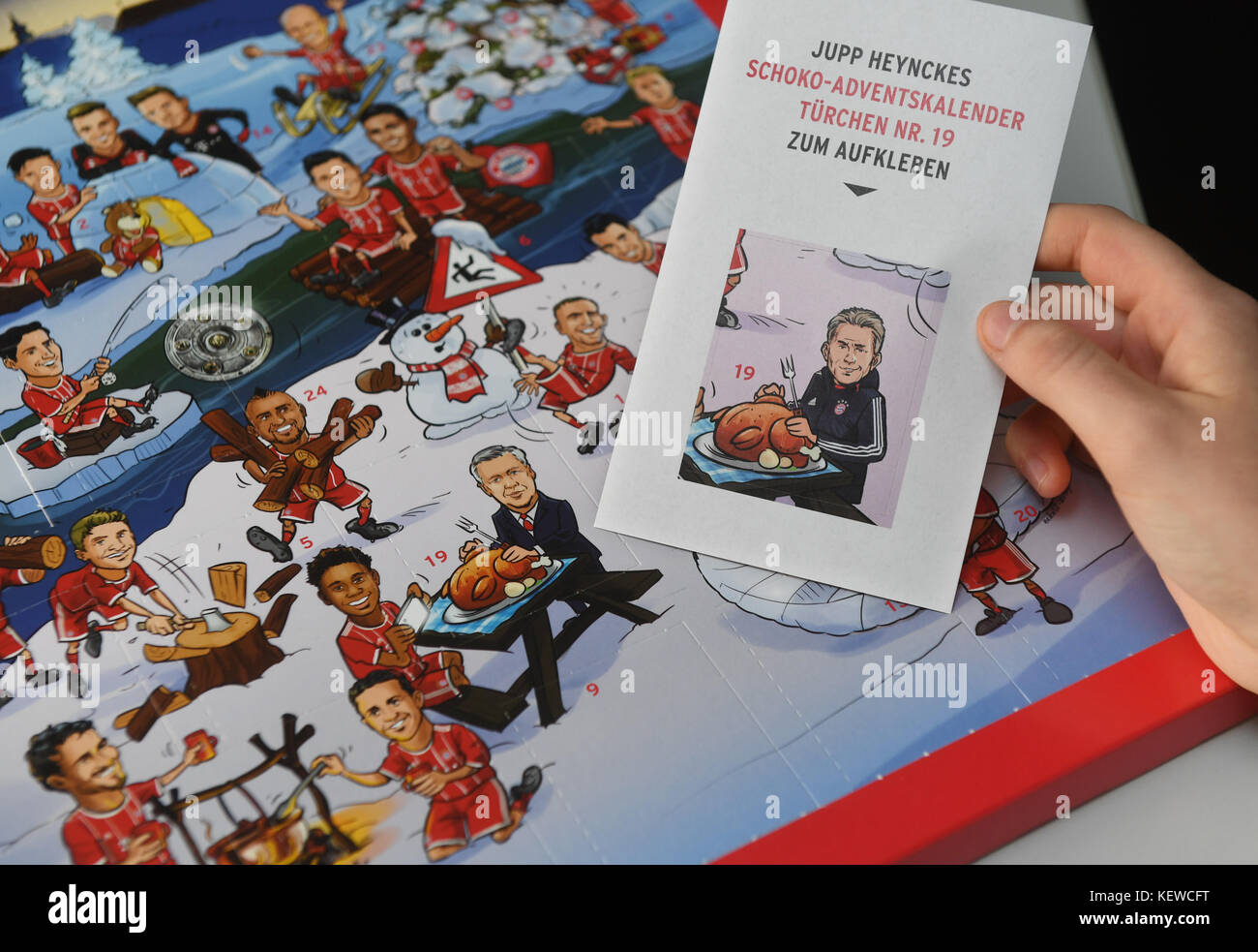 Fc Bayern Weihnachtskalender.Illustration An Fc Bayern Munich Advent Calandar Featuring The