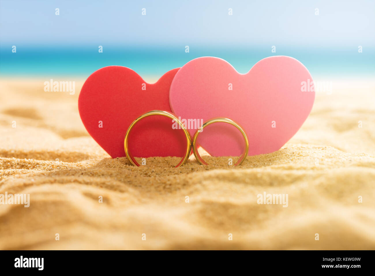Wedding Rings On Background Sea Stock Photos & Wedding Rings On ...