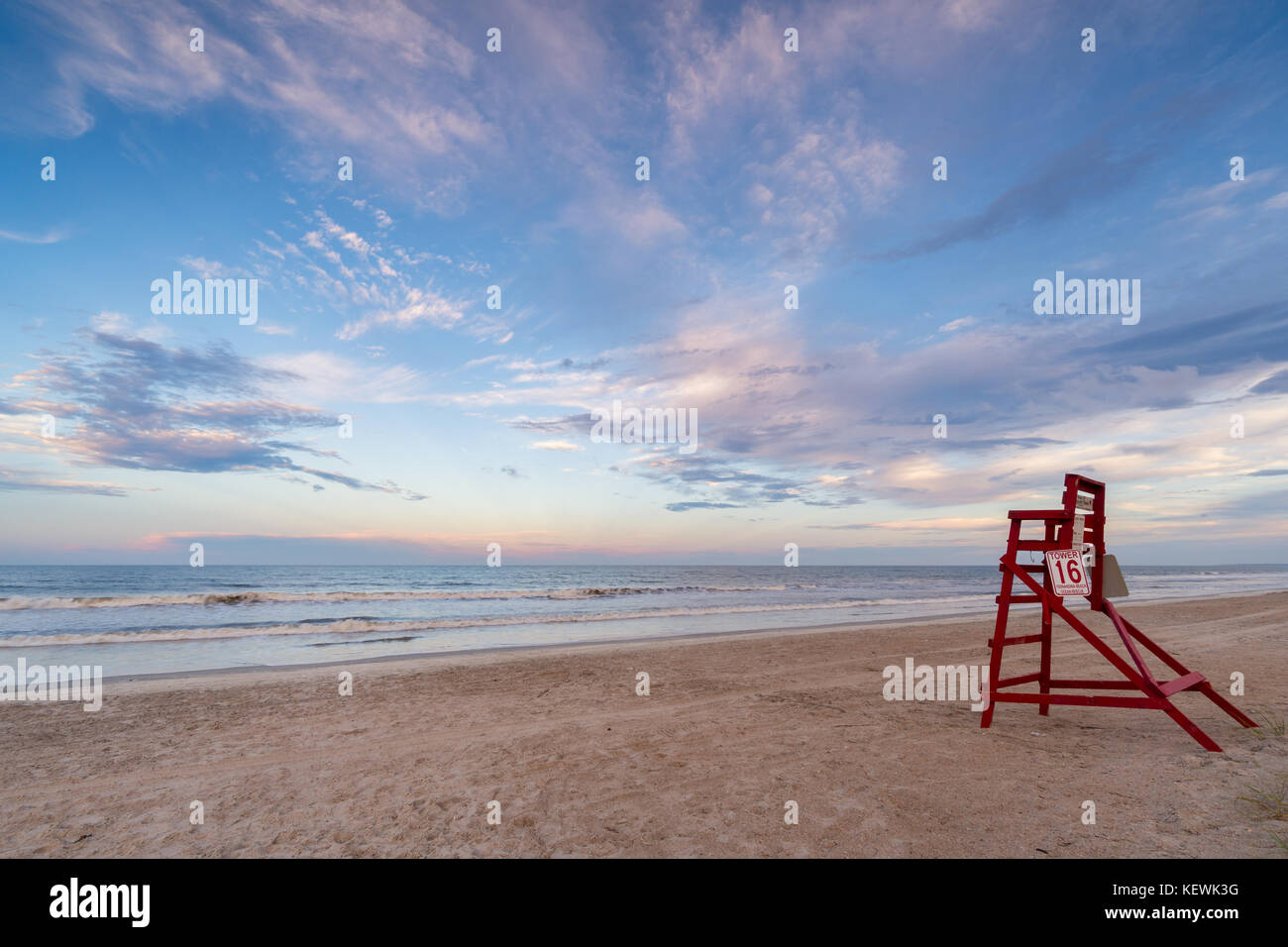 Tranquil and relaxing American Beach seascape, Amelia Island, Florida - Stock Image