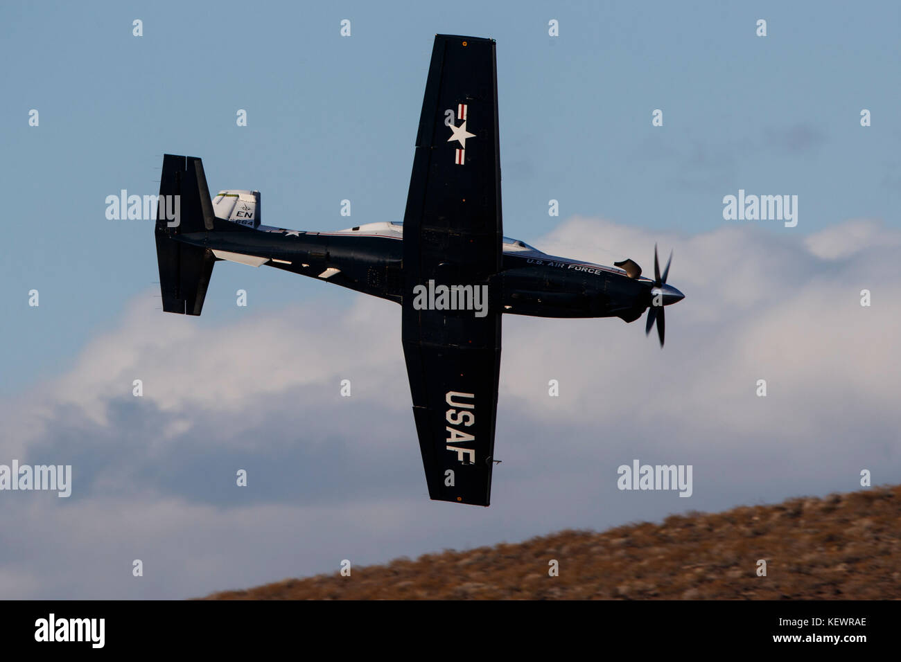 Beechcraft T-6 Texan II from United States Air Force 80th Flying Training Wing, Sheppard Air Force Base, Texas, - Stock Image