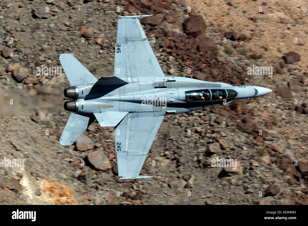 United States Marines McDonnell Douglas F/A-18C Hornet from the VMFAT-101 Sharpshooters squadron, Marine Corps Air - Stock Image