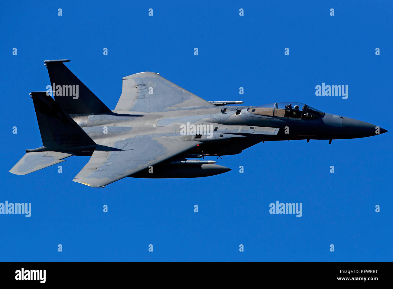 United States Air Force McDonnell-Douglas F-15C Eagle (80-048) from the 144th Fighter Wing, California Air National - Stock Image