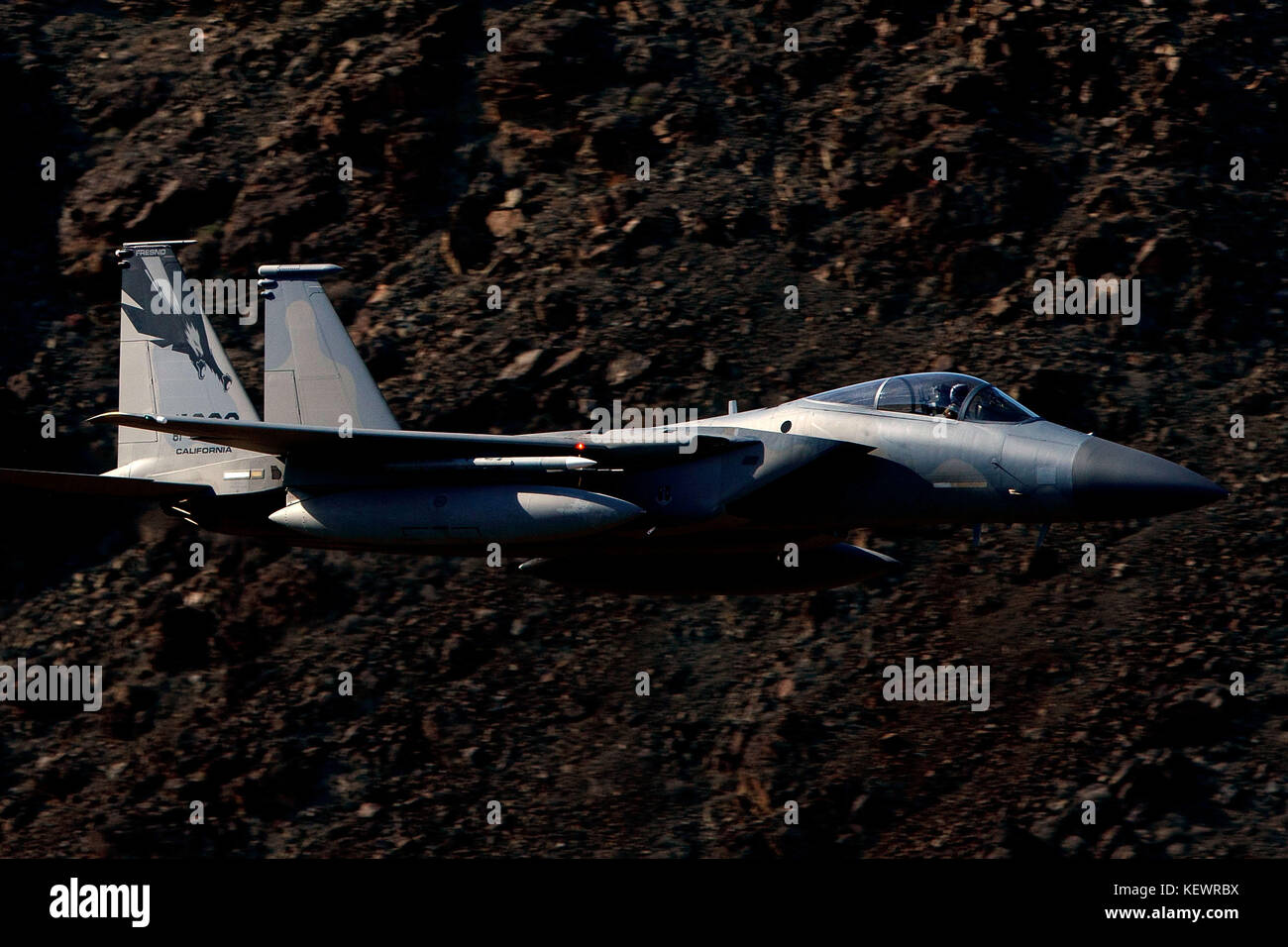 United States Air Force McDonnell-Douglas F-15C Eagle (81-022) from the 144th Fighter Wing, California Air National - Stock Image