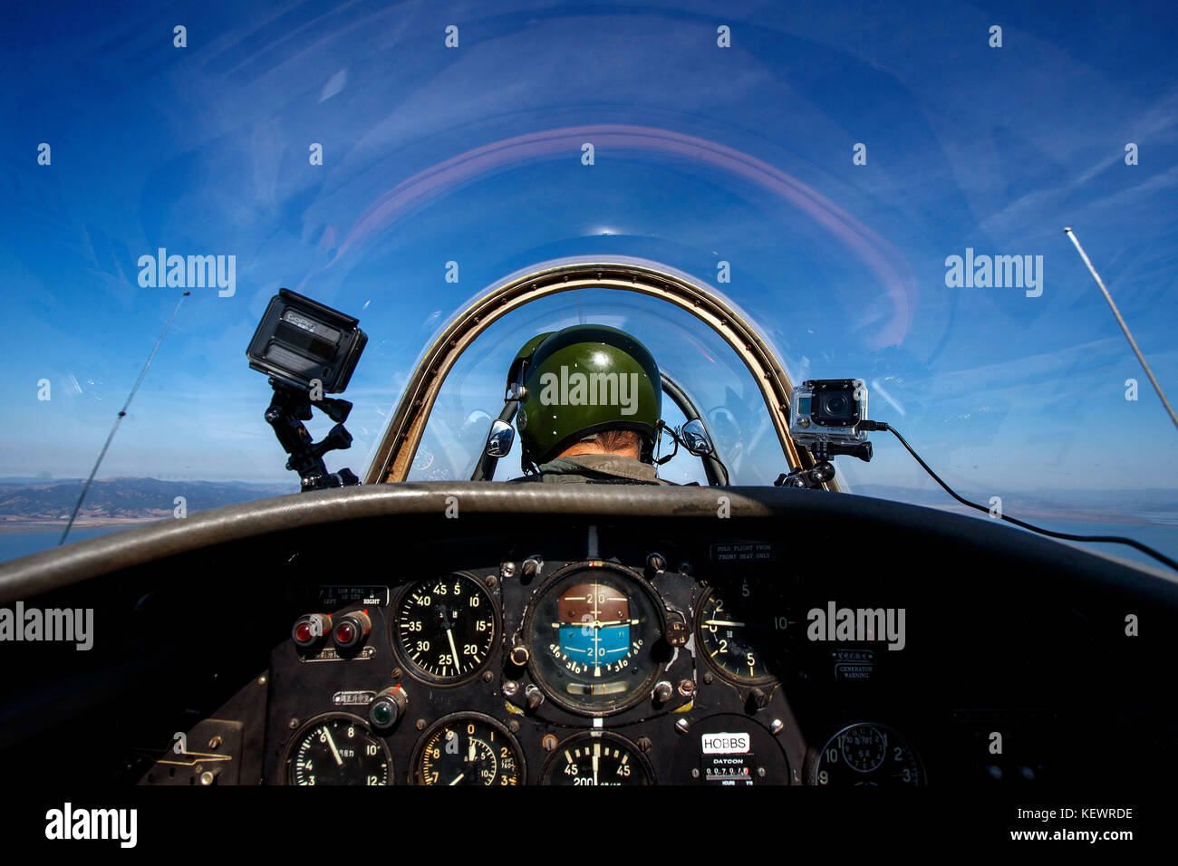 Nanchang CJ-6 Chinese fighter trainer airplane, California, United States of America - Stock Image