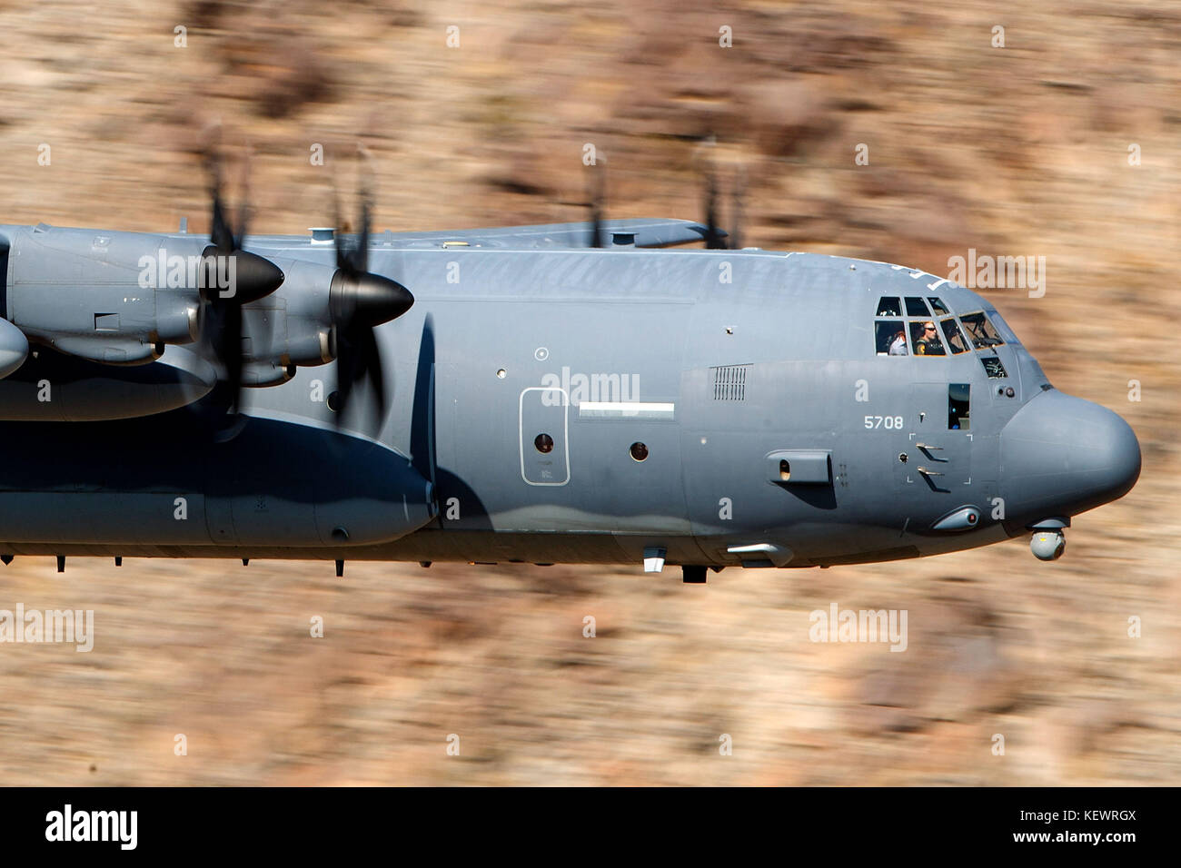 United States Air Force Lockheed HC-130J Combat King II from the 79th Rescue Squadron, Davis-Monthan Air Force Base, - Stock Image