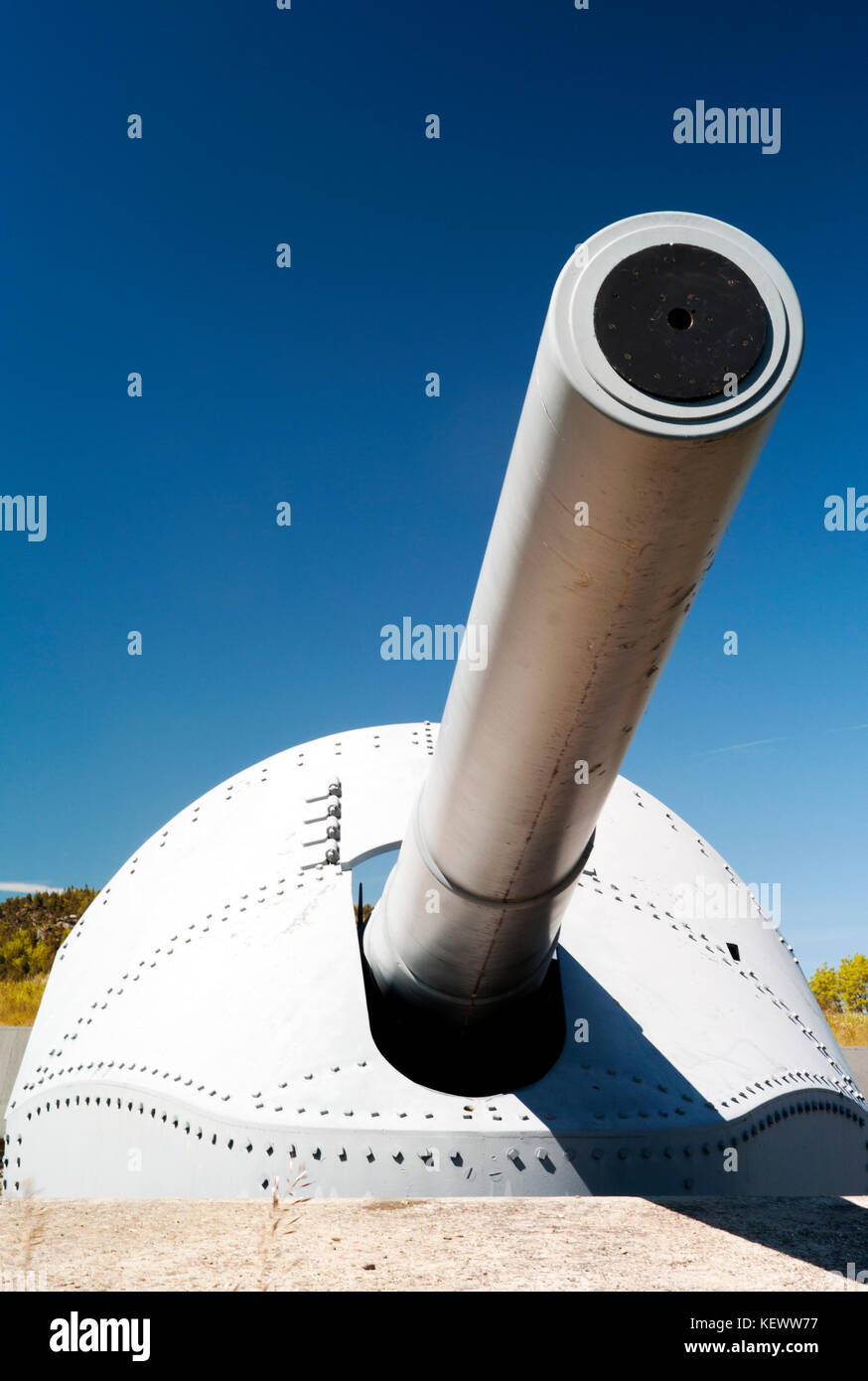 The old canon and a symbol of war. - Stock Image
