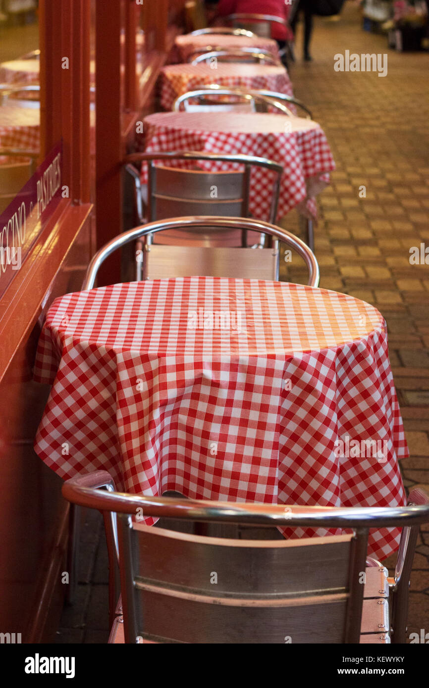Gingham Table Clothes - Stock Image
