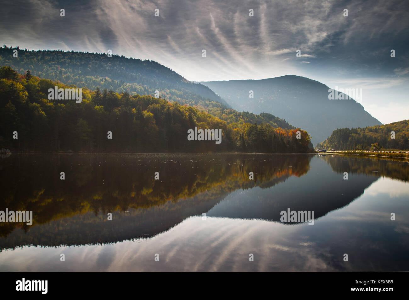 Saco Lake, looking south, Crawford Notch, Caroll, New Hampshire, USA Stock Photo