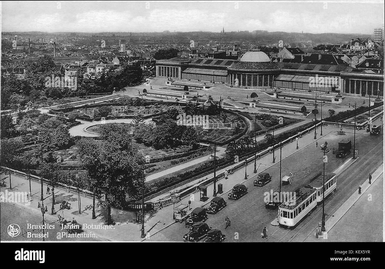Brussel Plantentuin 1930s - Stock Image