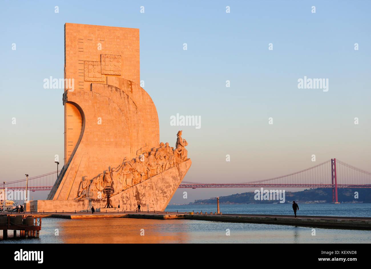 Padrão dos Descobrimentos (Monument to the Discoveries), Lisbon. Portugal - Stock Image