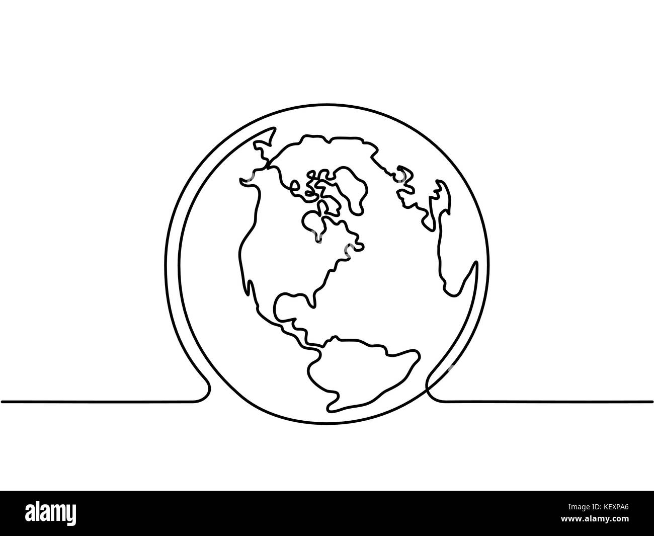 Globe of the Earth - Stock Image