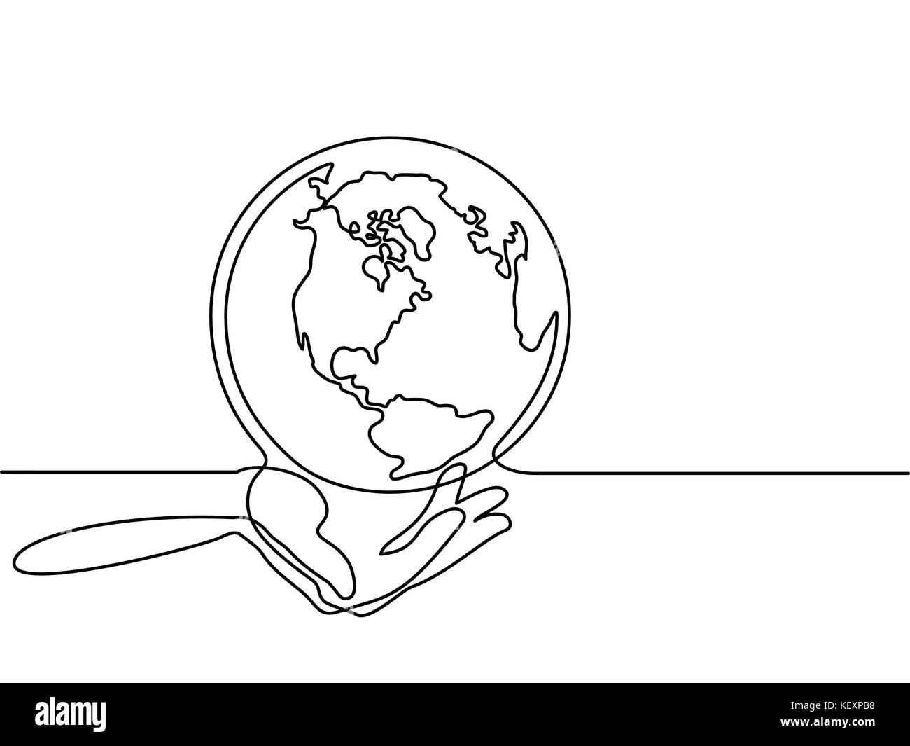 Globe of the Earth in human hands - Stock Image