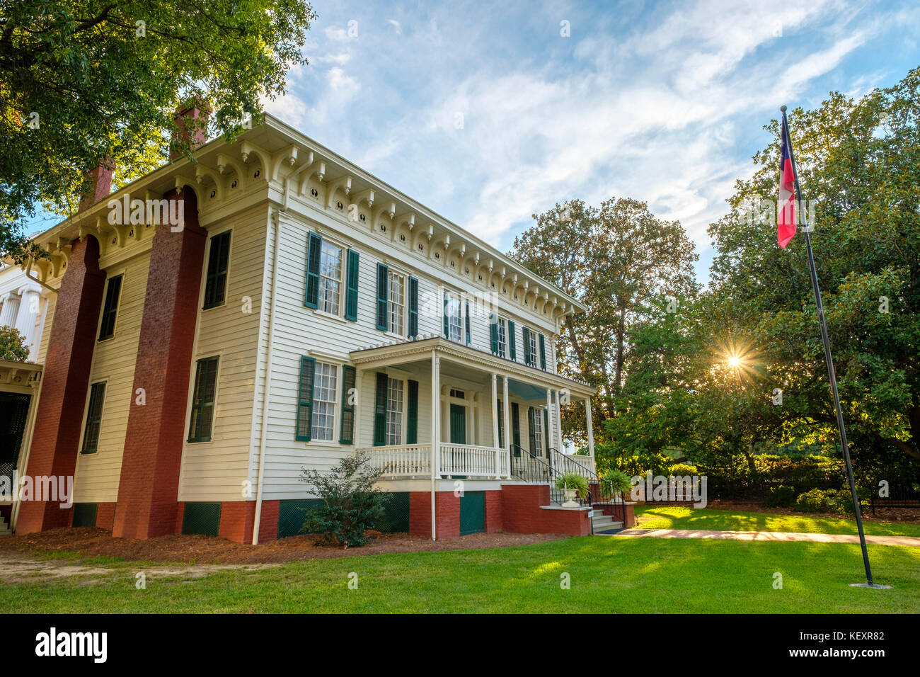 United States, Alabama, Montgomery. First White House of the Confederacy, former residence of President Jefferson Davis. Stock Photo