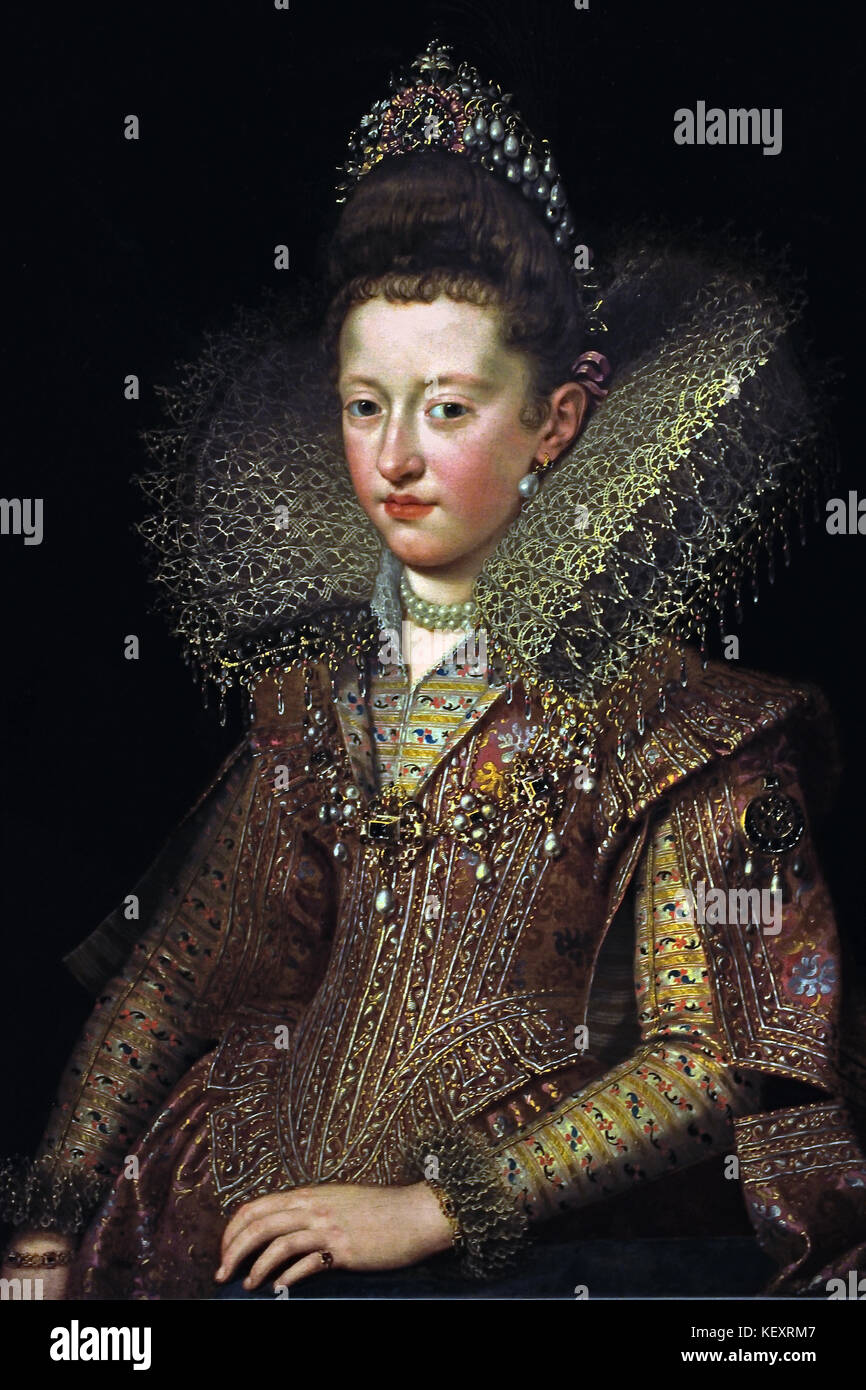Margherita Gonzaga ( 1591 – 1632 ) was Duchess of Lorraine from 1606 until her husband's death in 1624. ) 1606 - Stock Image