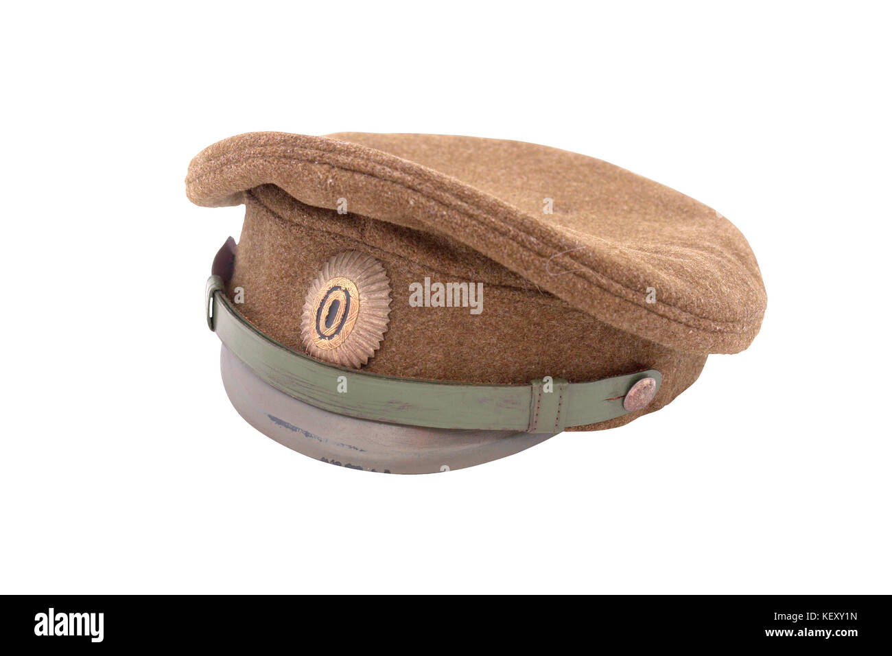 8446598ef Cap Russian Army Officer Isolated Stock Photos & Cap Russian Army ...