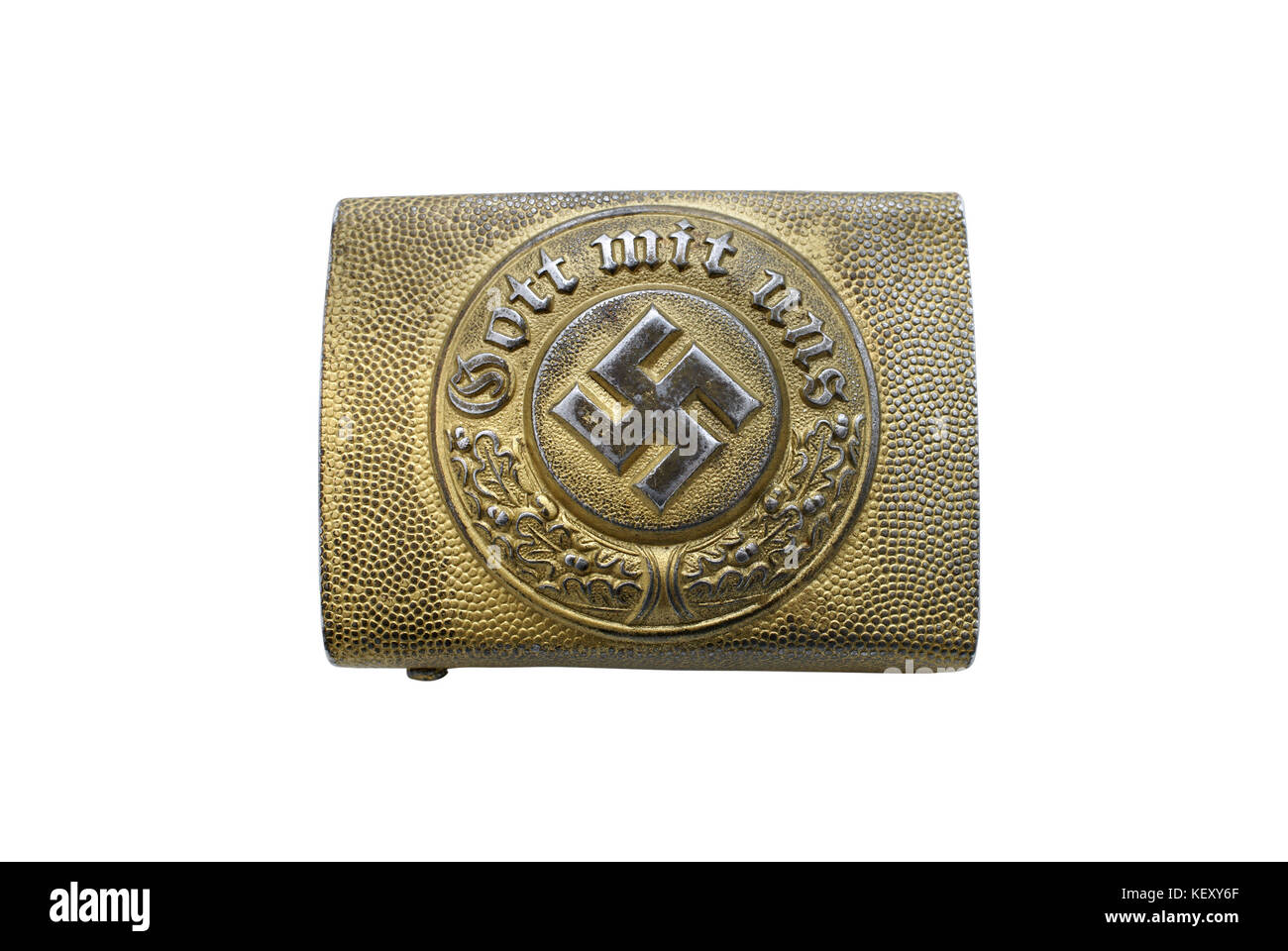 Germany at the Second World War. Only for historical purposes! Buckle of German Navy police (rank and file). Steel - Stock Image