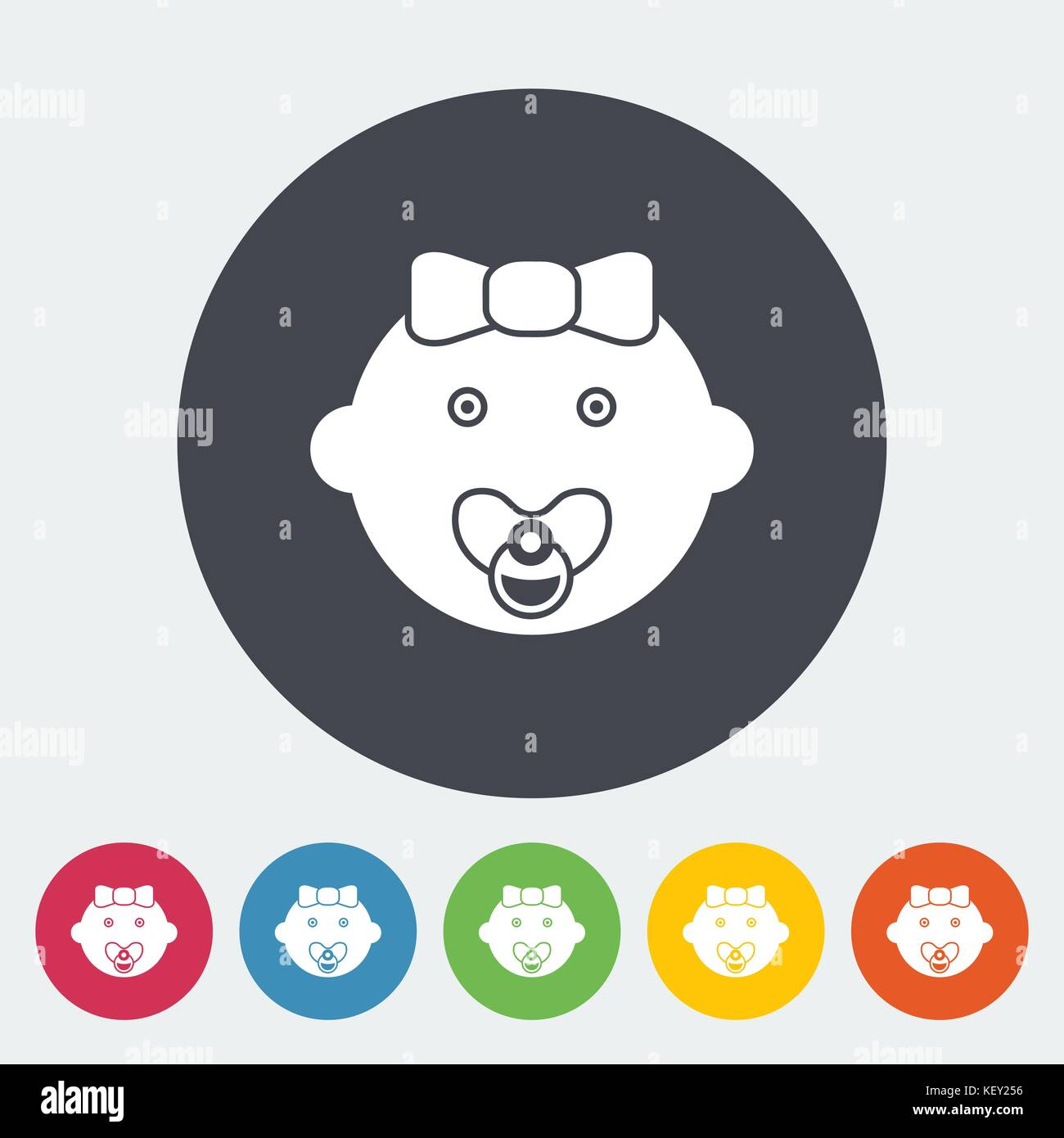 Baby girl icon. Flat vector related icon for web and mobile applications. It can be used as - logo, pictogram, icon, - Stock Vector