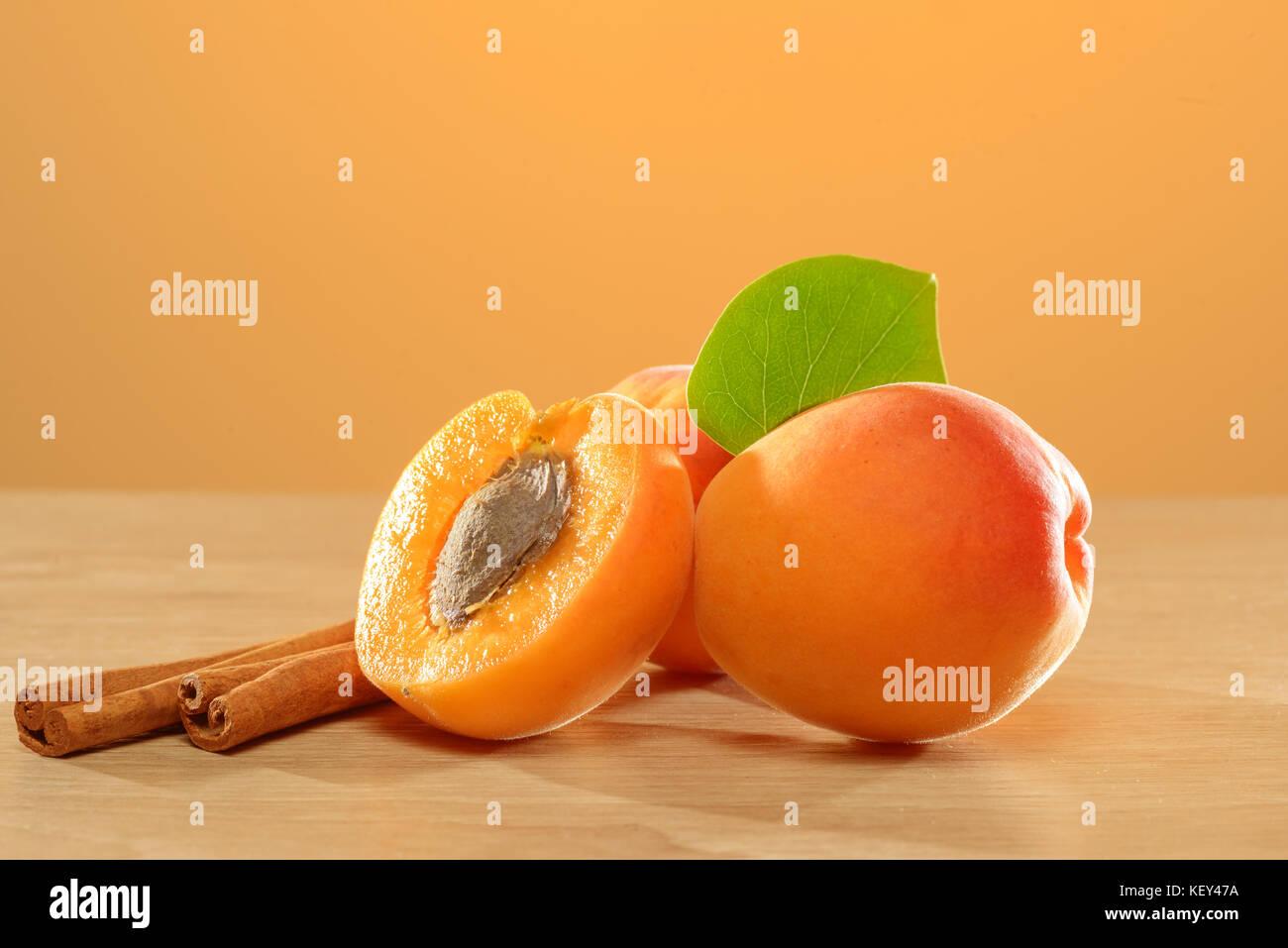 Apricot still life - Stock Image