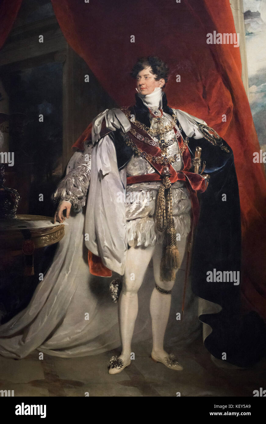Thomas Lawrence (1769-1830), Portrait of George IV of England as Prince Regent, n.d. - Stock Image