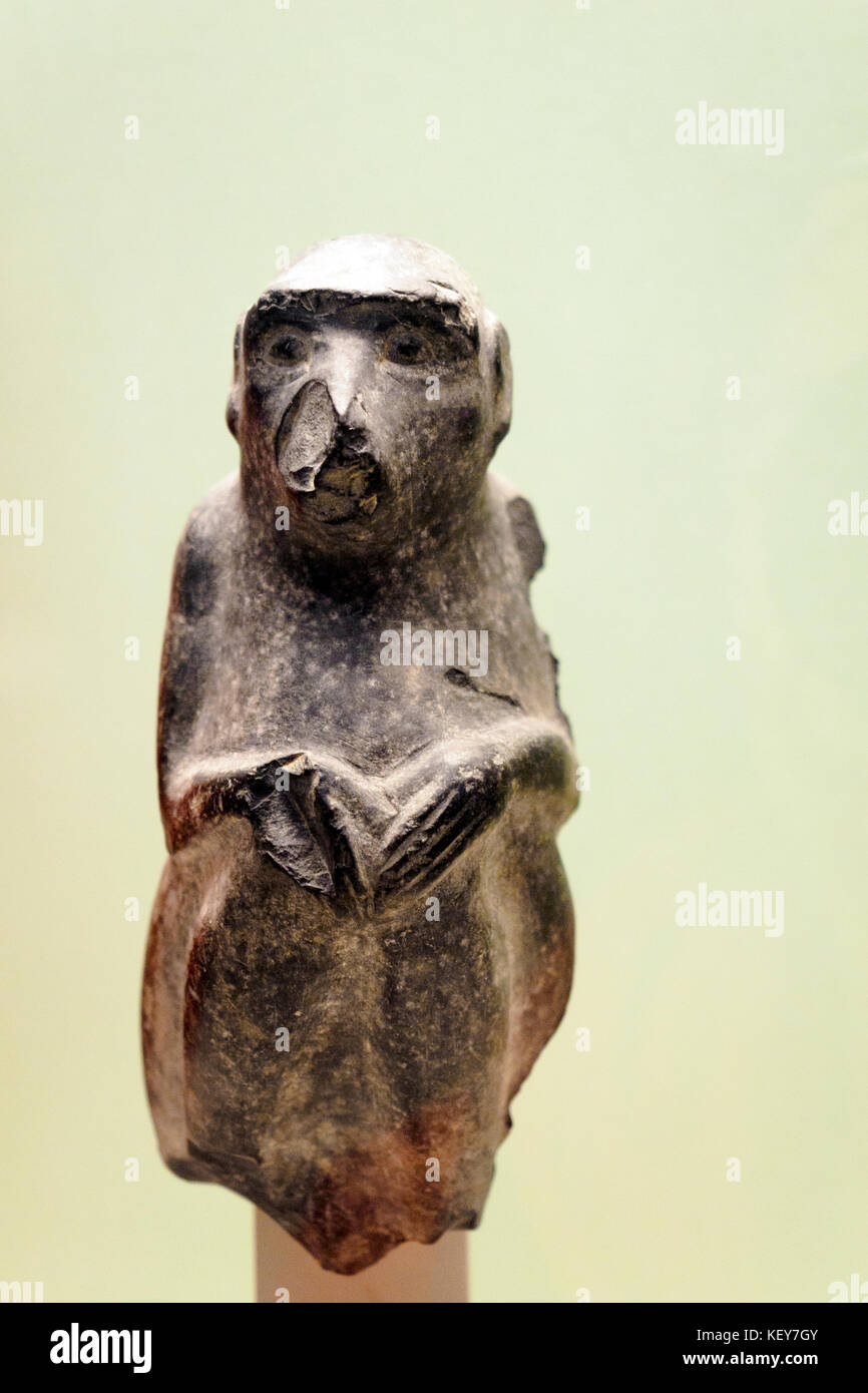 Statue of a monkey About 1250-1200 BC from Kar Tukulti-Ninurta, northern Iraq Certain Mesopotamian kings prided - Stock Image