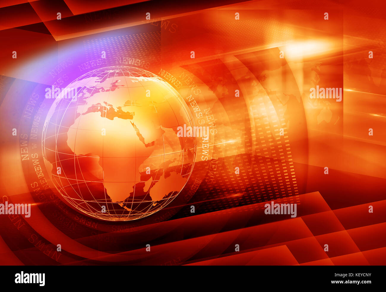 Graphical Colorful News Background - Stock Image