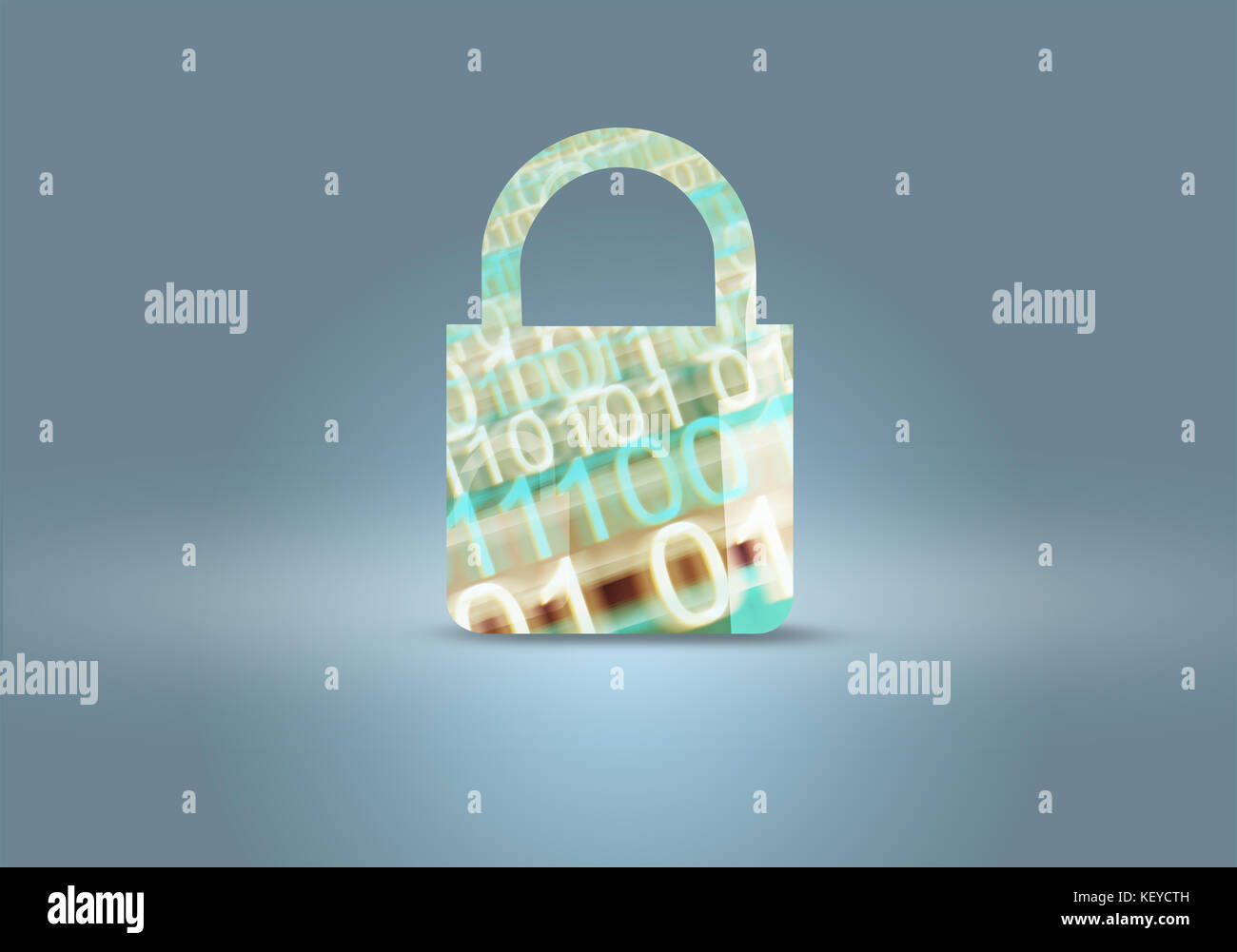 Computer and Digital Data Security Locker Concept. - Stock Image