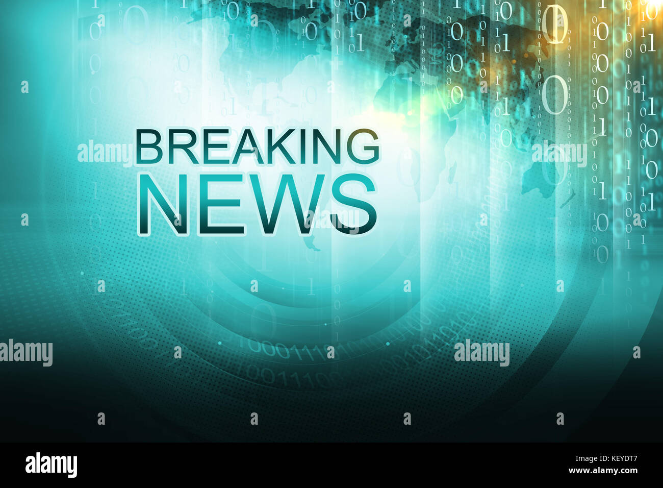 Graphical Breaking News Background Digital With Text 3d Illustration Render