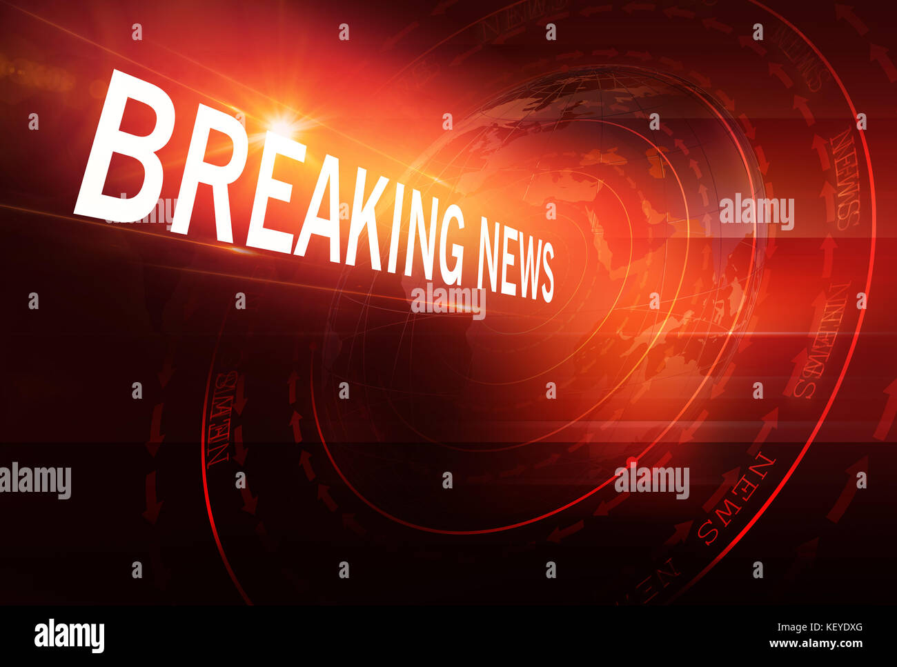 Graphical Sport News Background with World Map and Round Circles with Layers of Stages. Text on Ground. 3d Illustration, - Stock Image