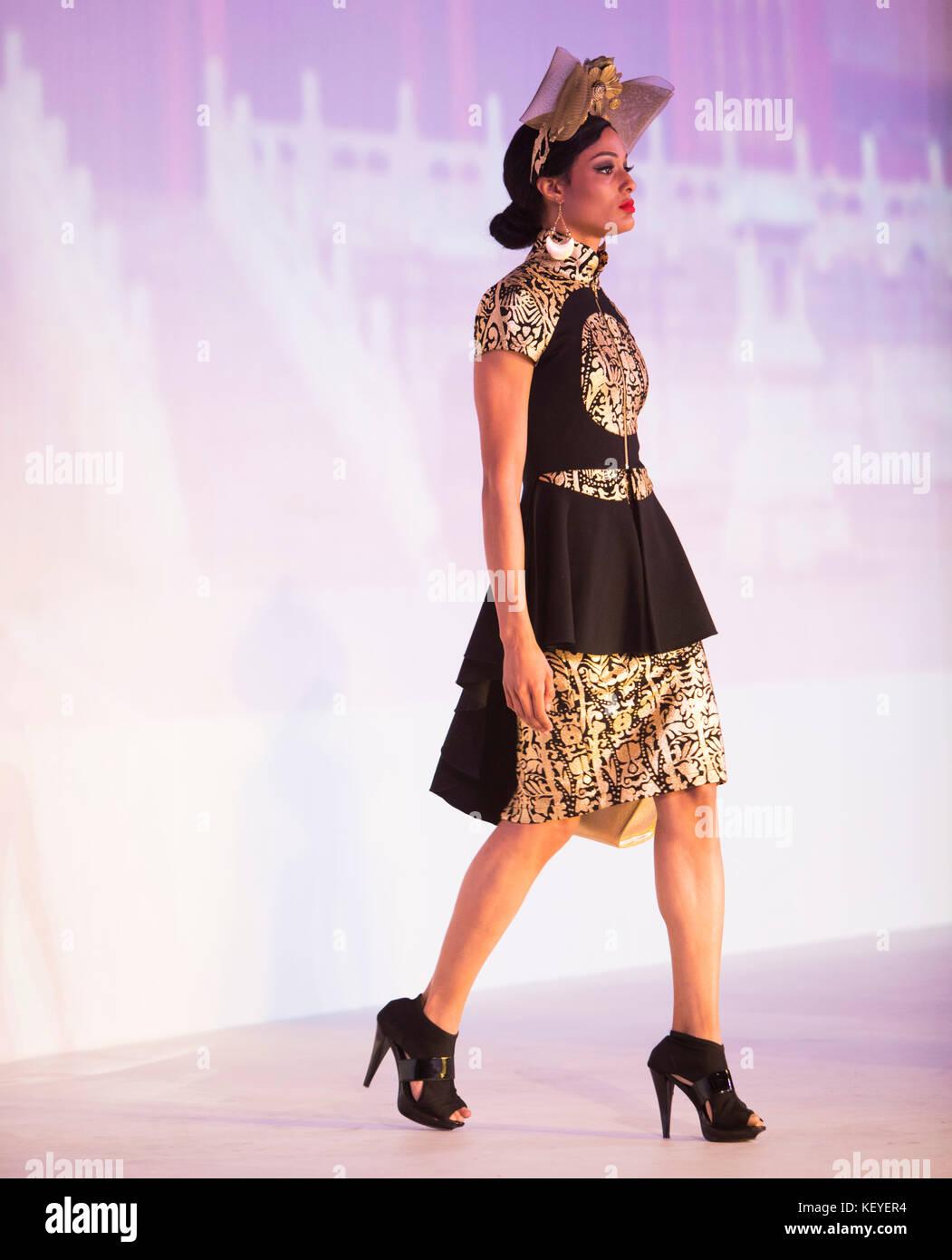 Model On Runwaywearing Design By David Tupaz Style Fashion Week Stock Photo Alamy